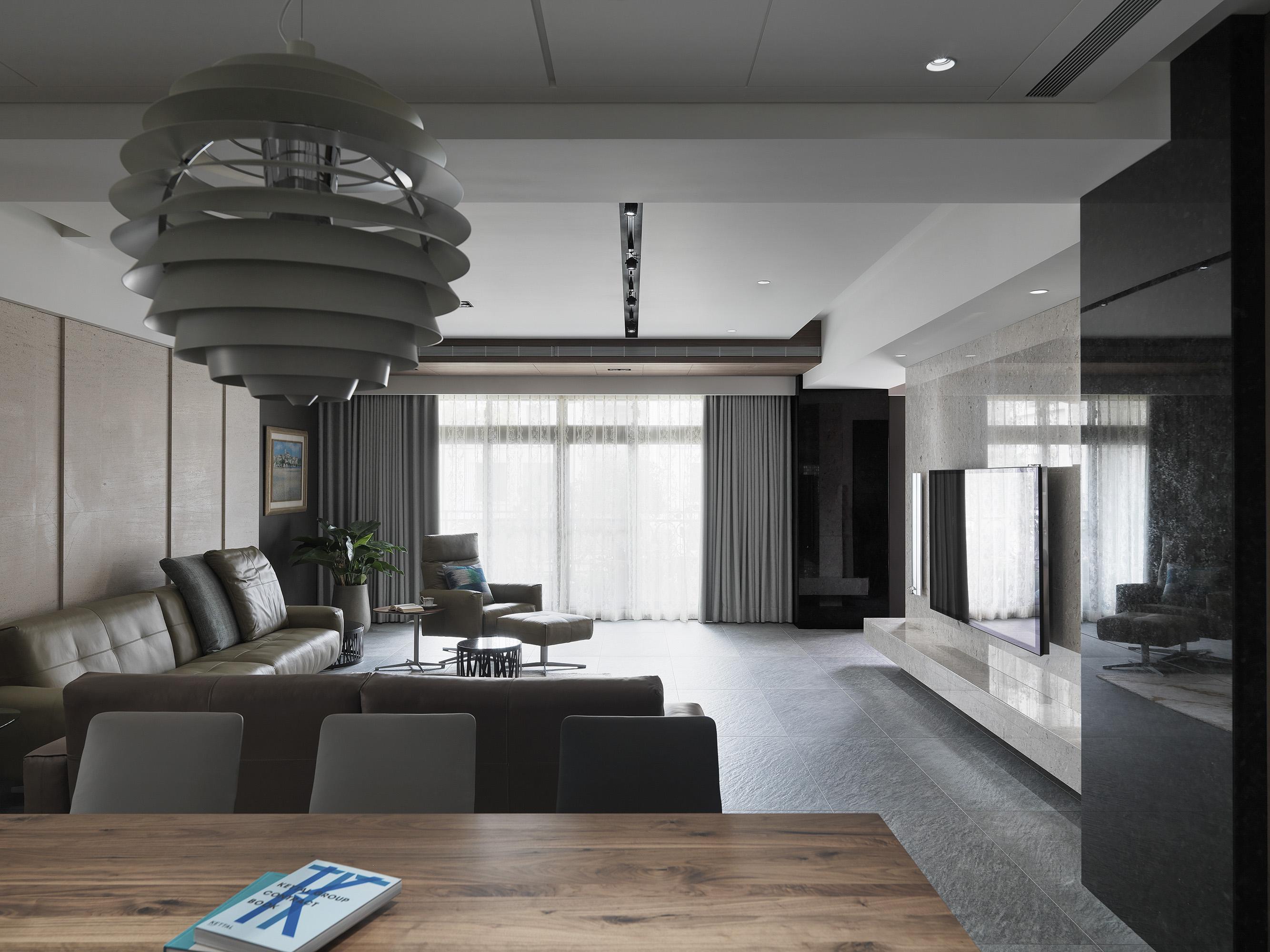 豪宅設計-都市莊園-客廳