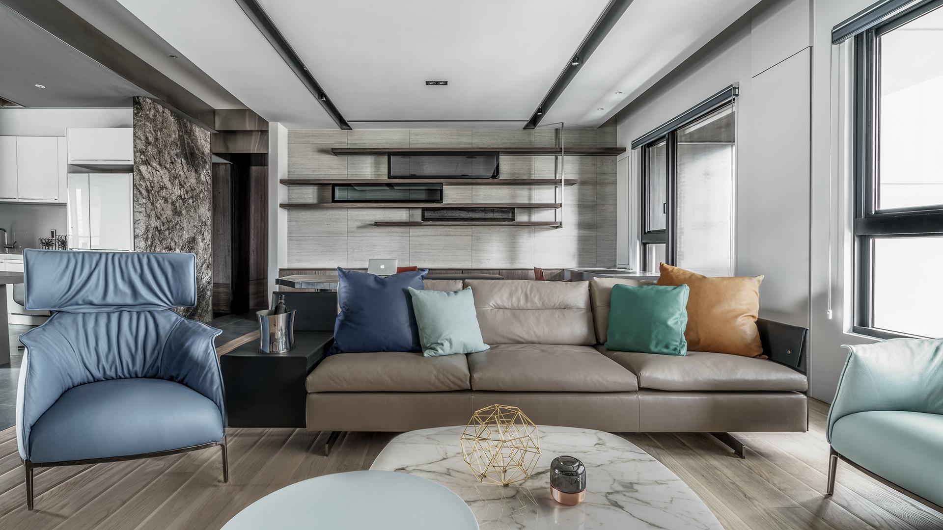 豪宅設計-中介-客廳