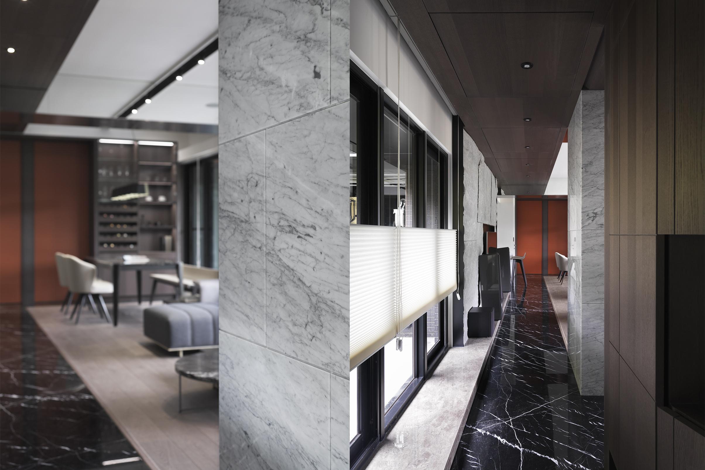 豪宅設計-石砌-玄關
