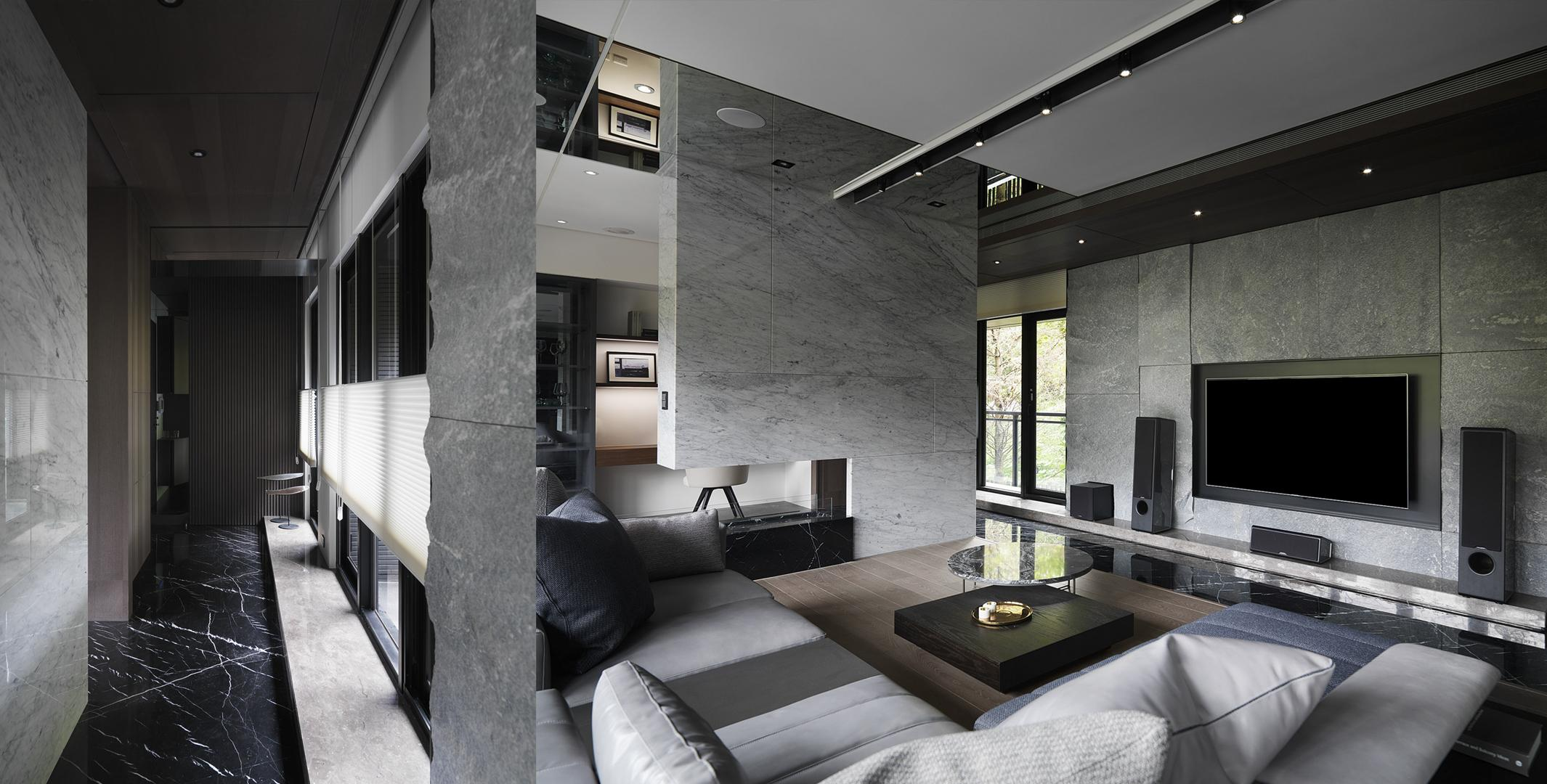 豪宅設計-石砌-客廳