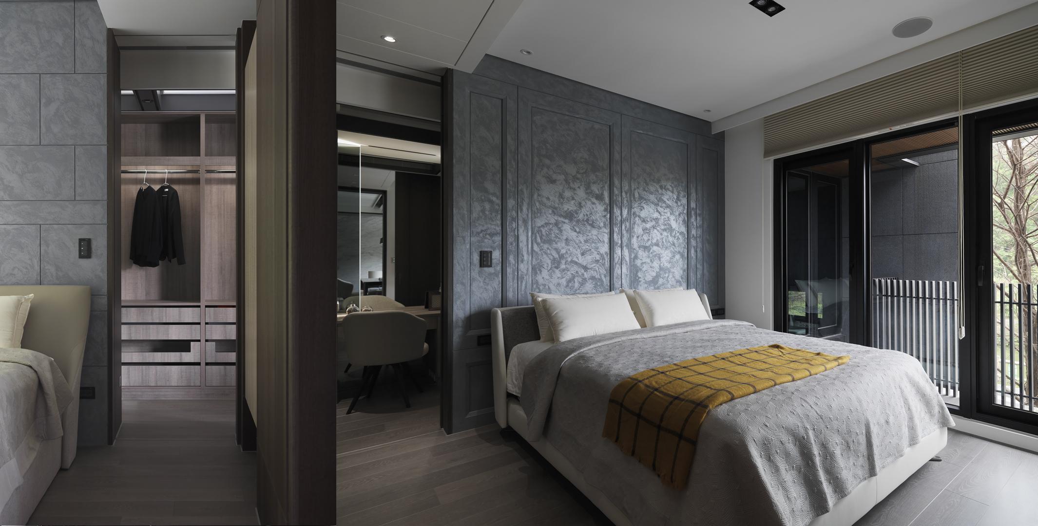 豪宅設計-石砌-臥室
