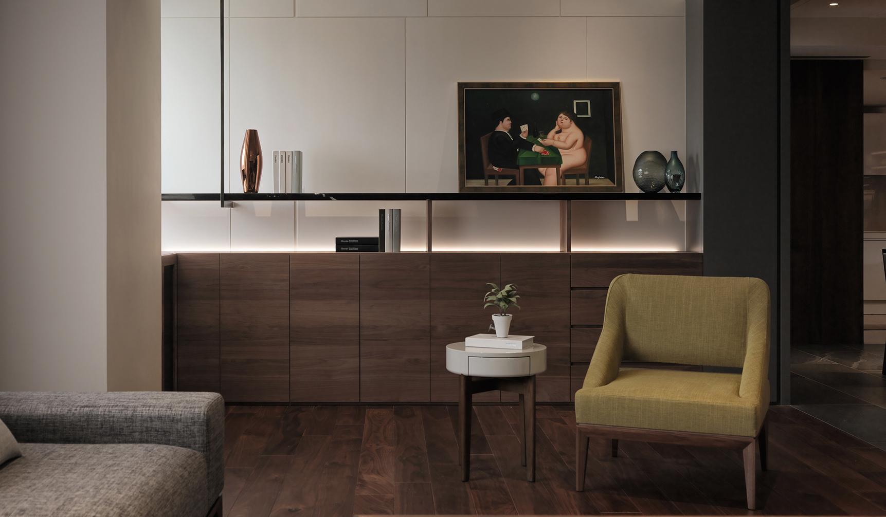 豪宅設計-綠色幽默-客廳