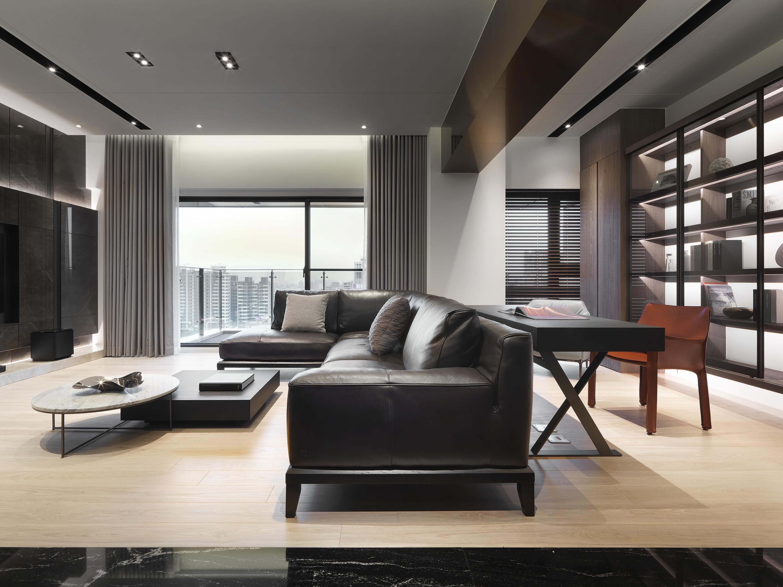 豪宅設計-人文典藏-客廳