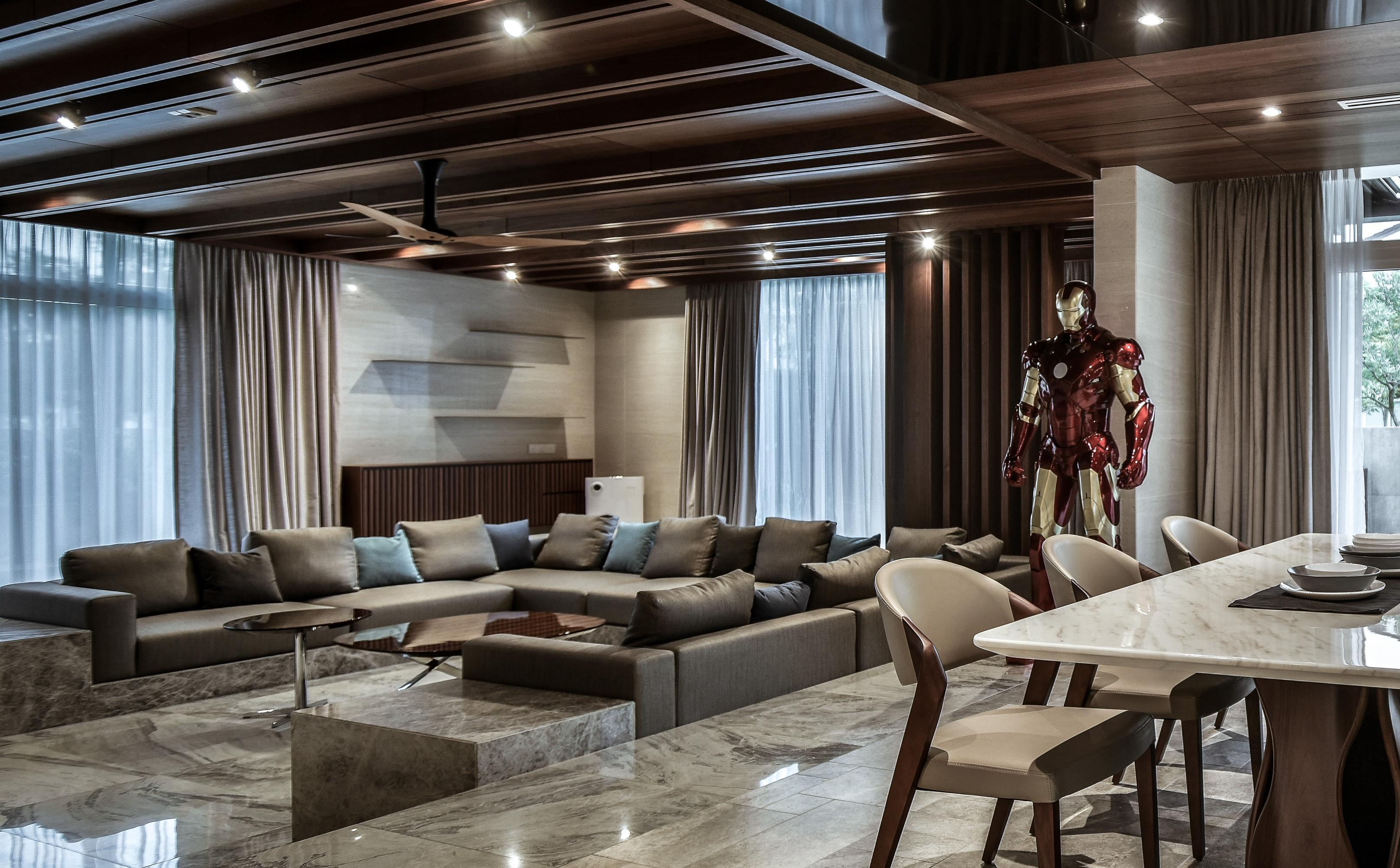 豪宅設計-印象馬來西亞-客廳