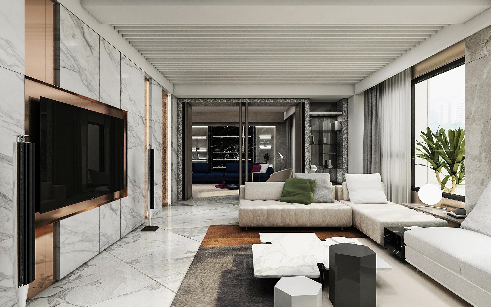 豪宅設計 - 都會靈感與華麗轉身-客廳