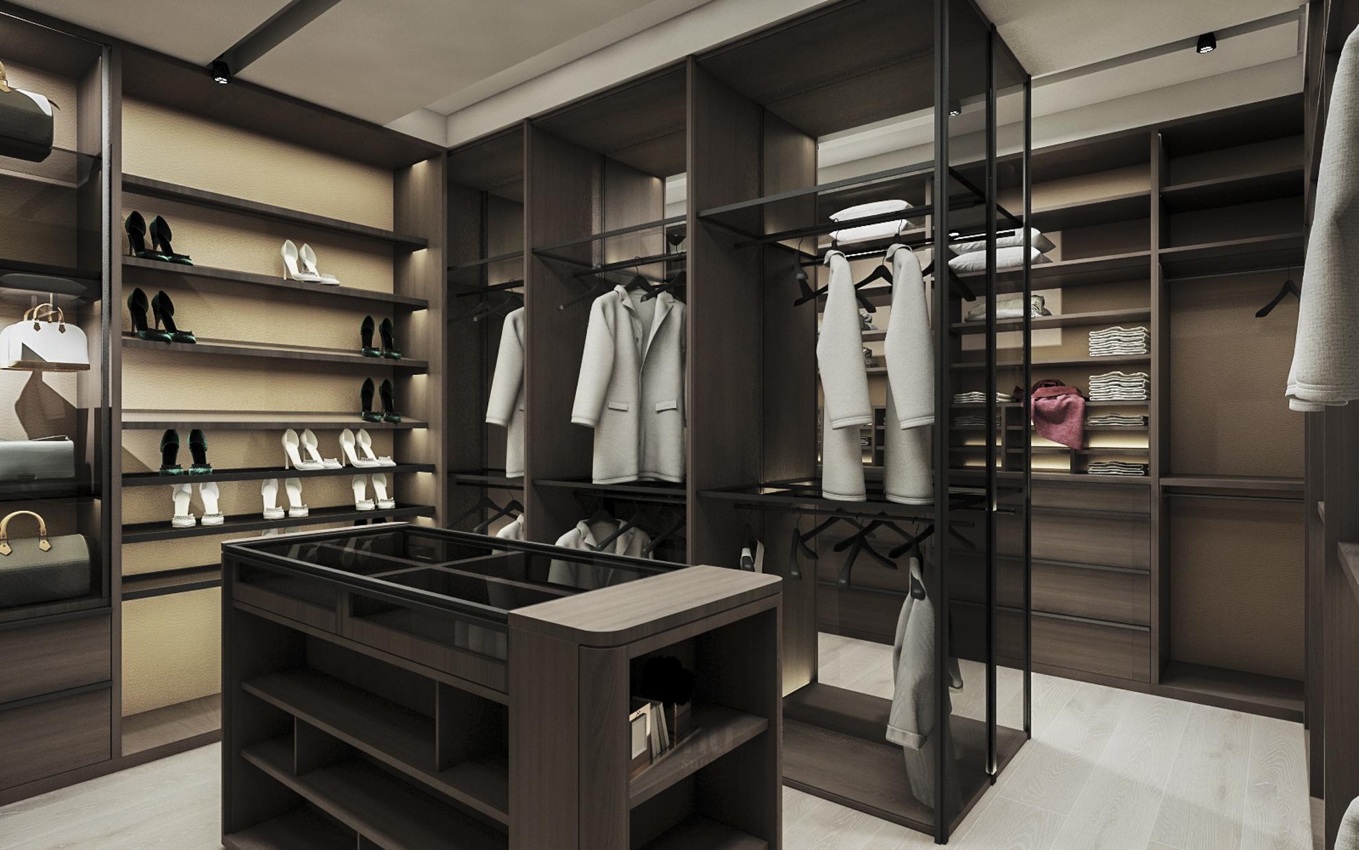 豪宅設計 - 都會靈感與華麗轉身-更衣間