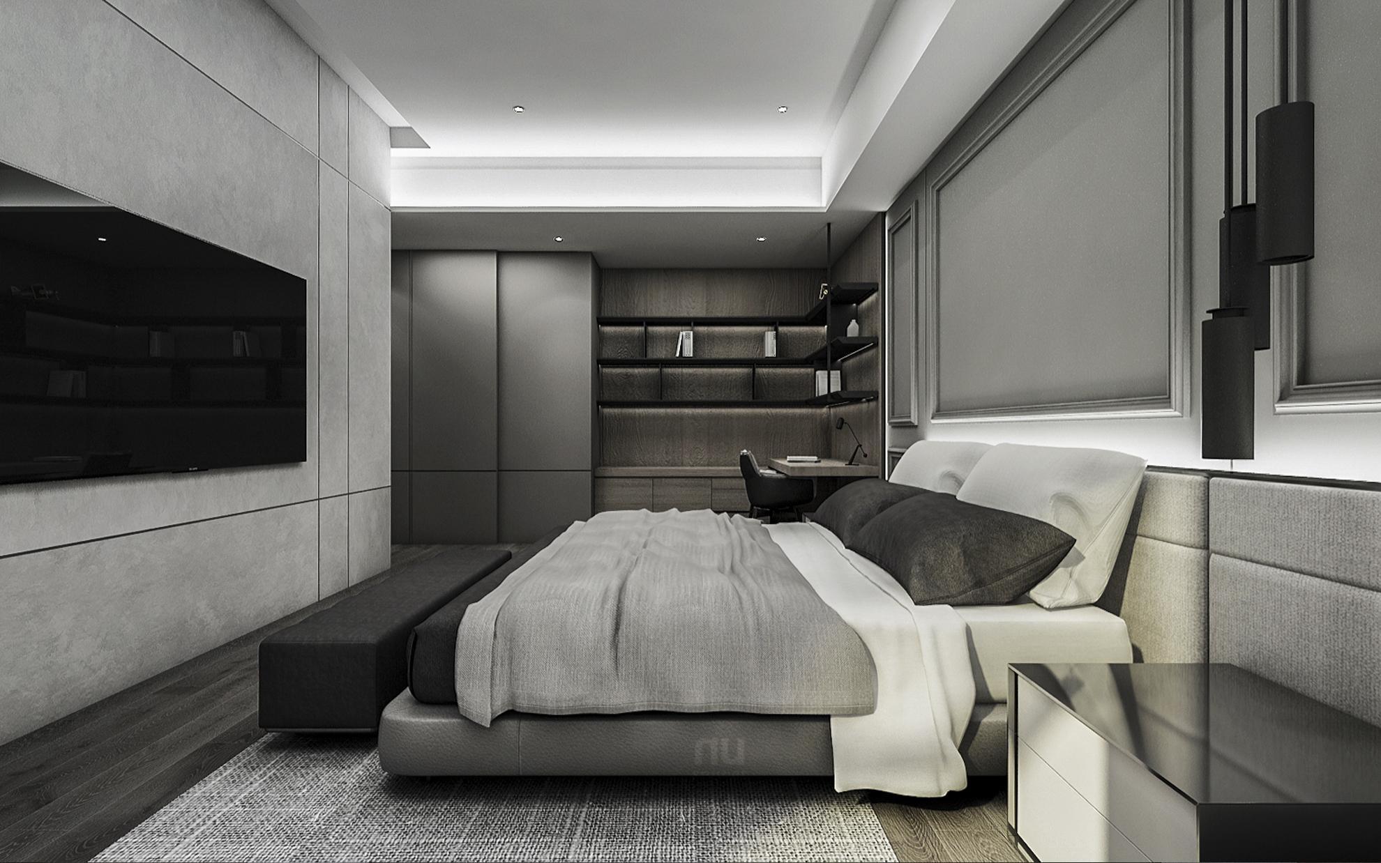 豪宅設計 - 都會靈感與華麗轉身-臥室