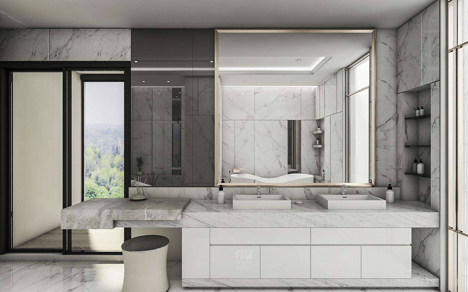 豪宅設計 - 都會靈感與華麗轉身-浴室