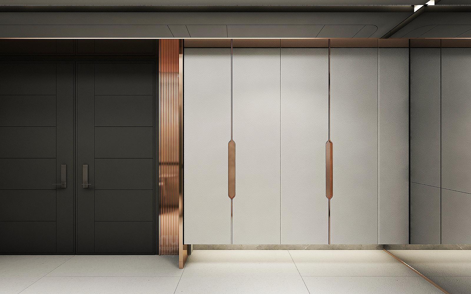 豪宅設計-Penthouse 台中序曲-玄關