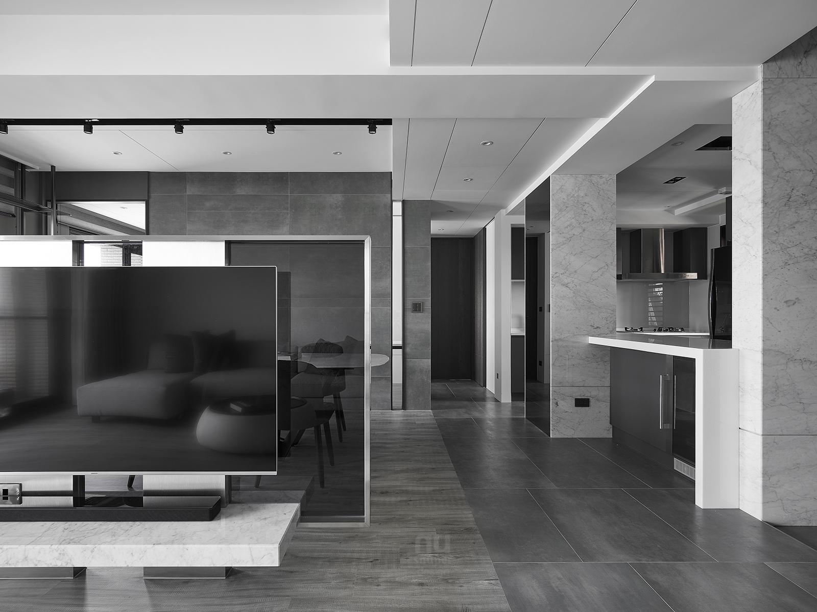 豪宅設計-自由之畔-客廳