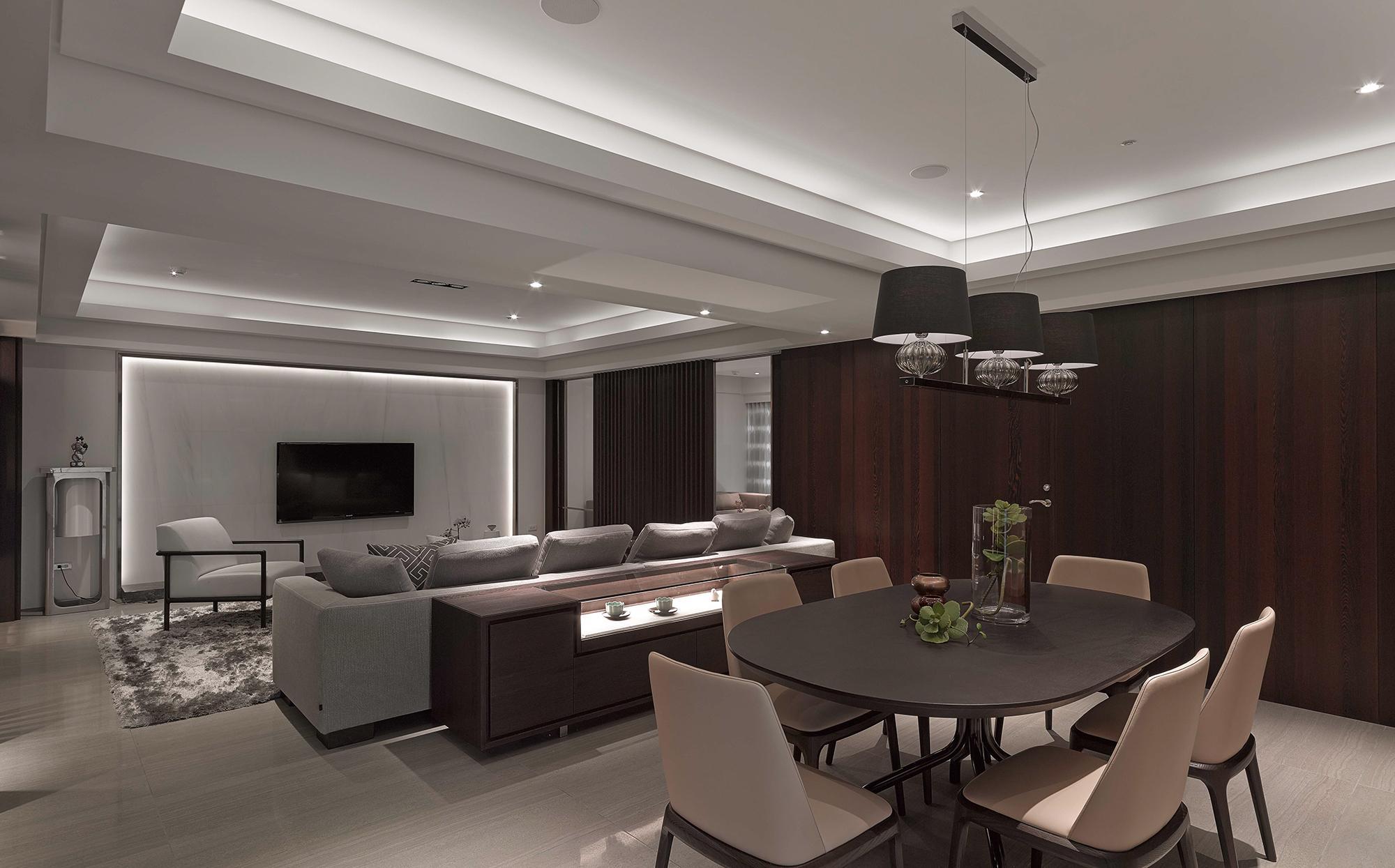 豪宅設計-靜謐-客廳