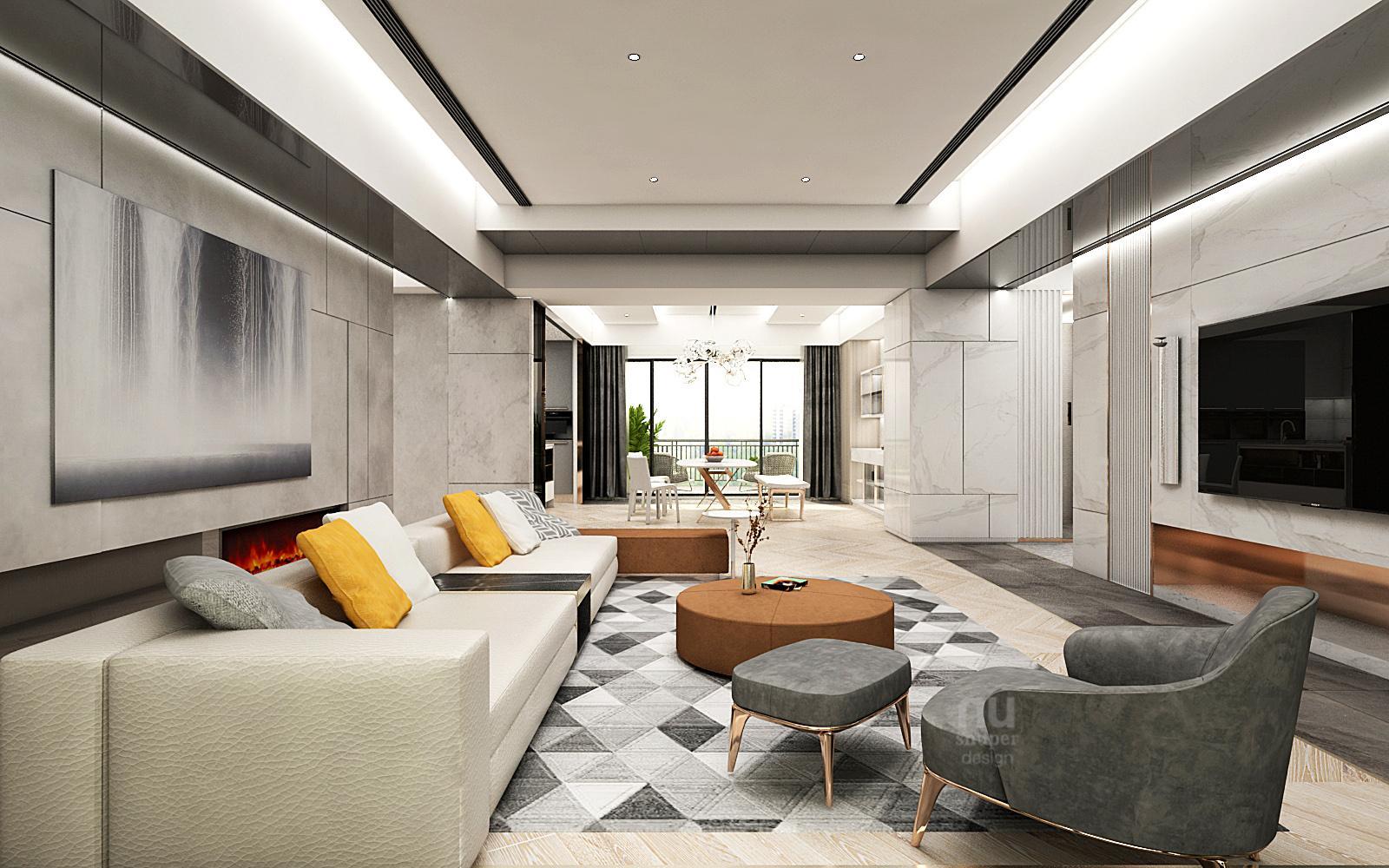 豪宅設計客廳設計