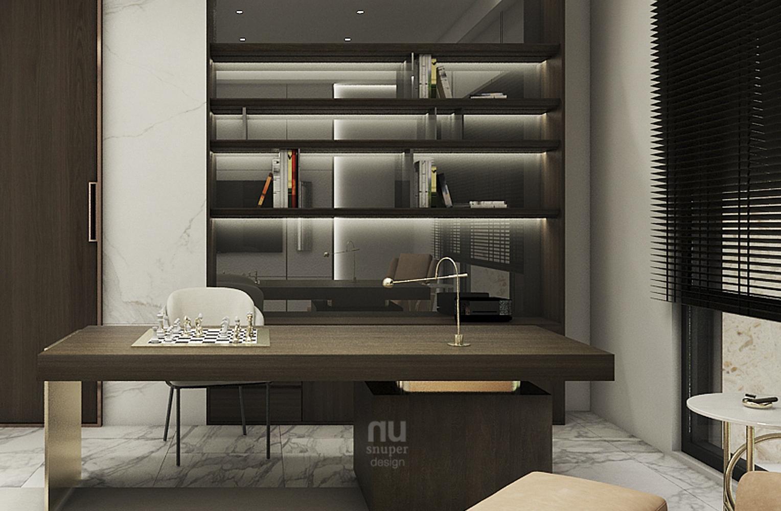 豪宅設計-當代時髦的風采-書房
