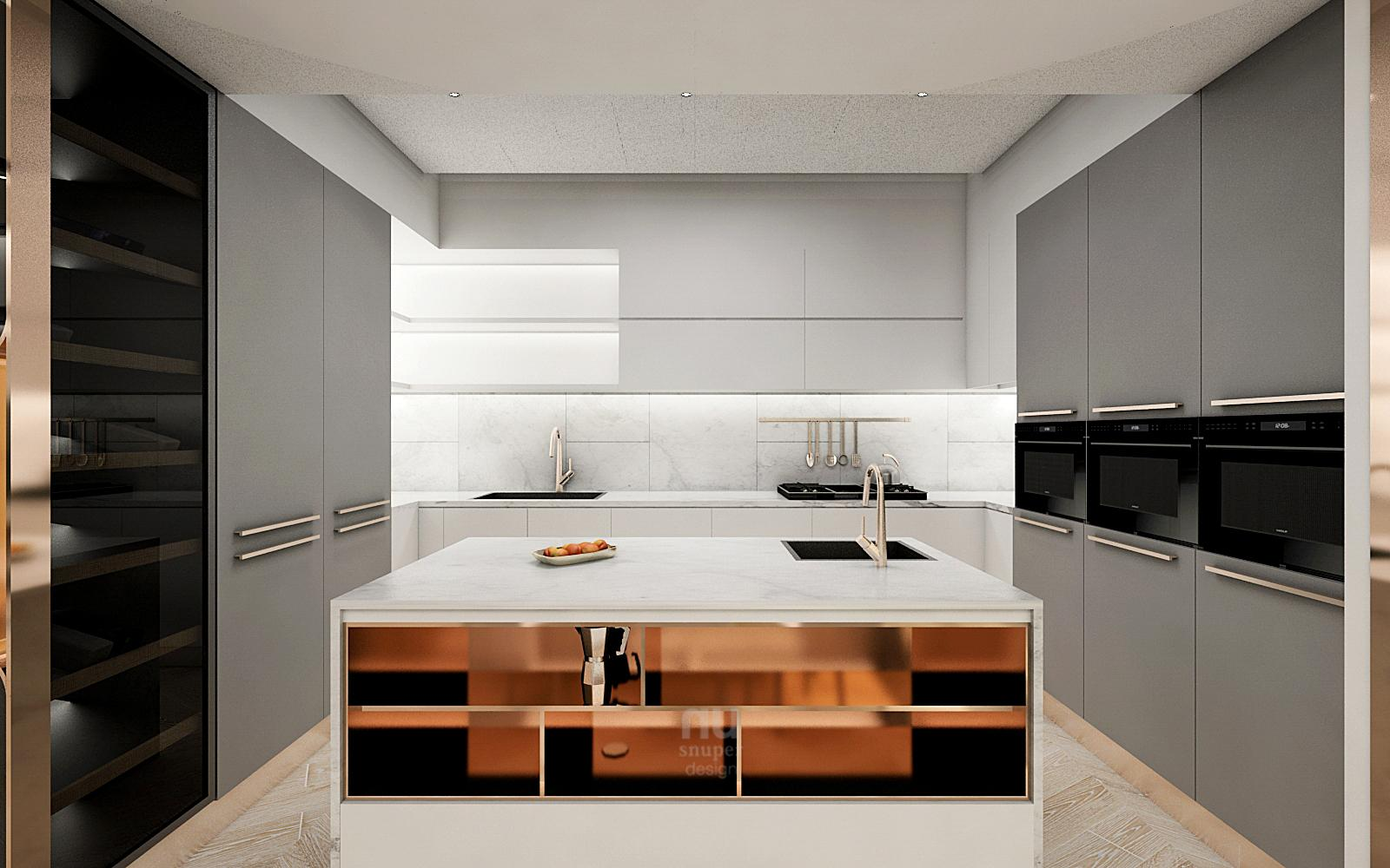 豪宅設計-當代時髦的風采-廚房