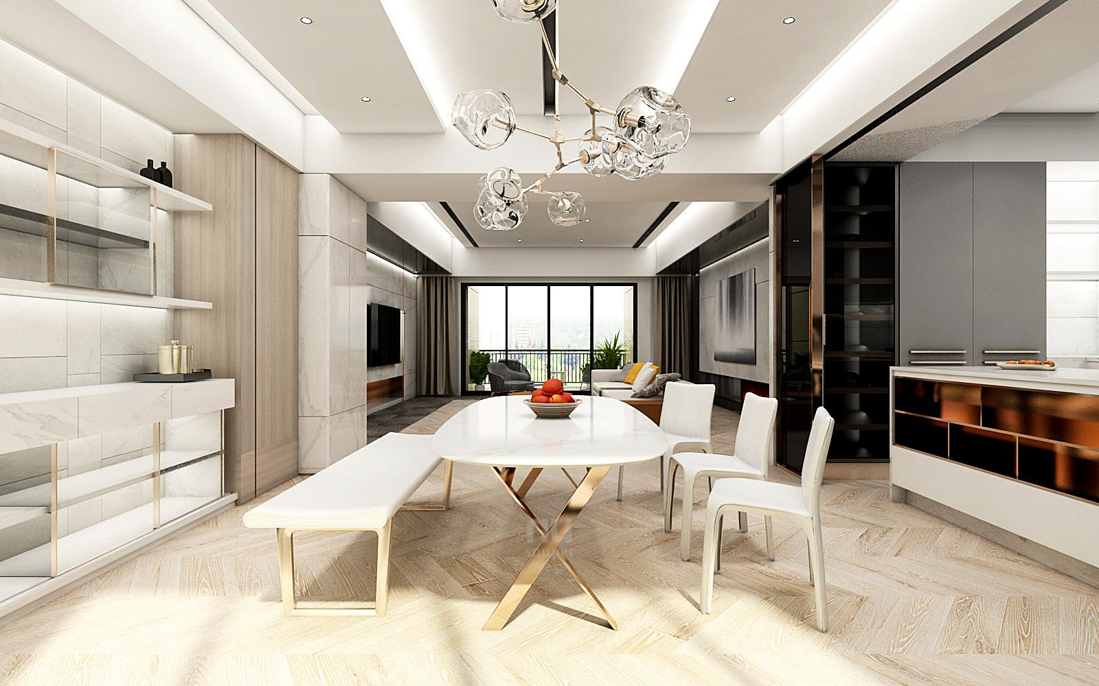 豪宅設計餐廳設計