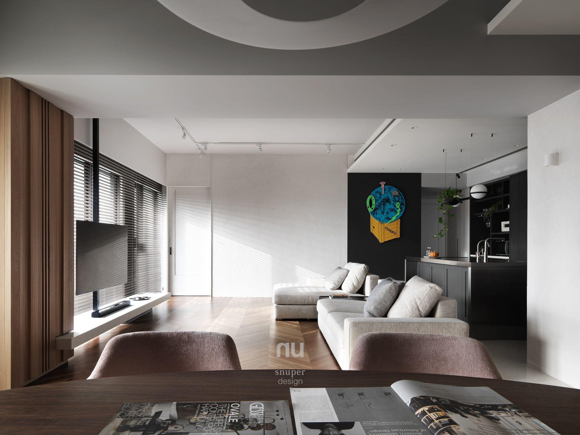 豪宅設計-晨光天地-客廳