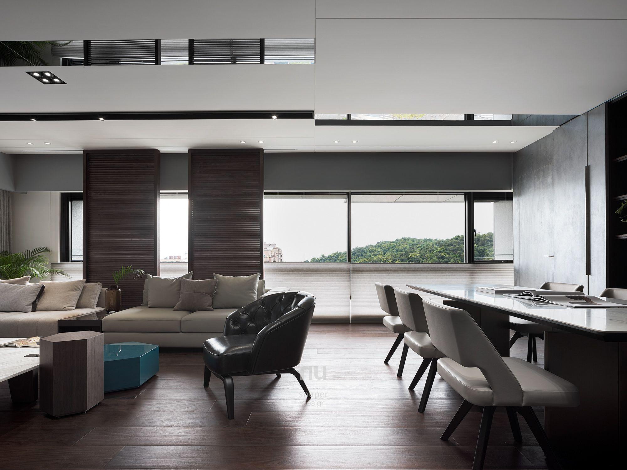 豪宅設計-都會綠洲-客廳