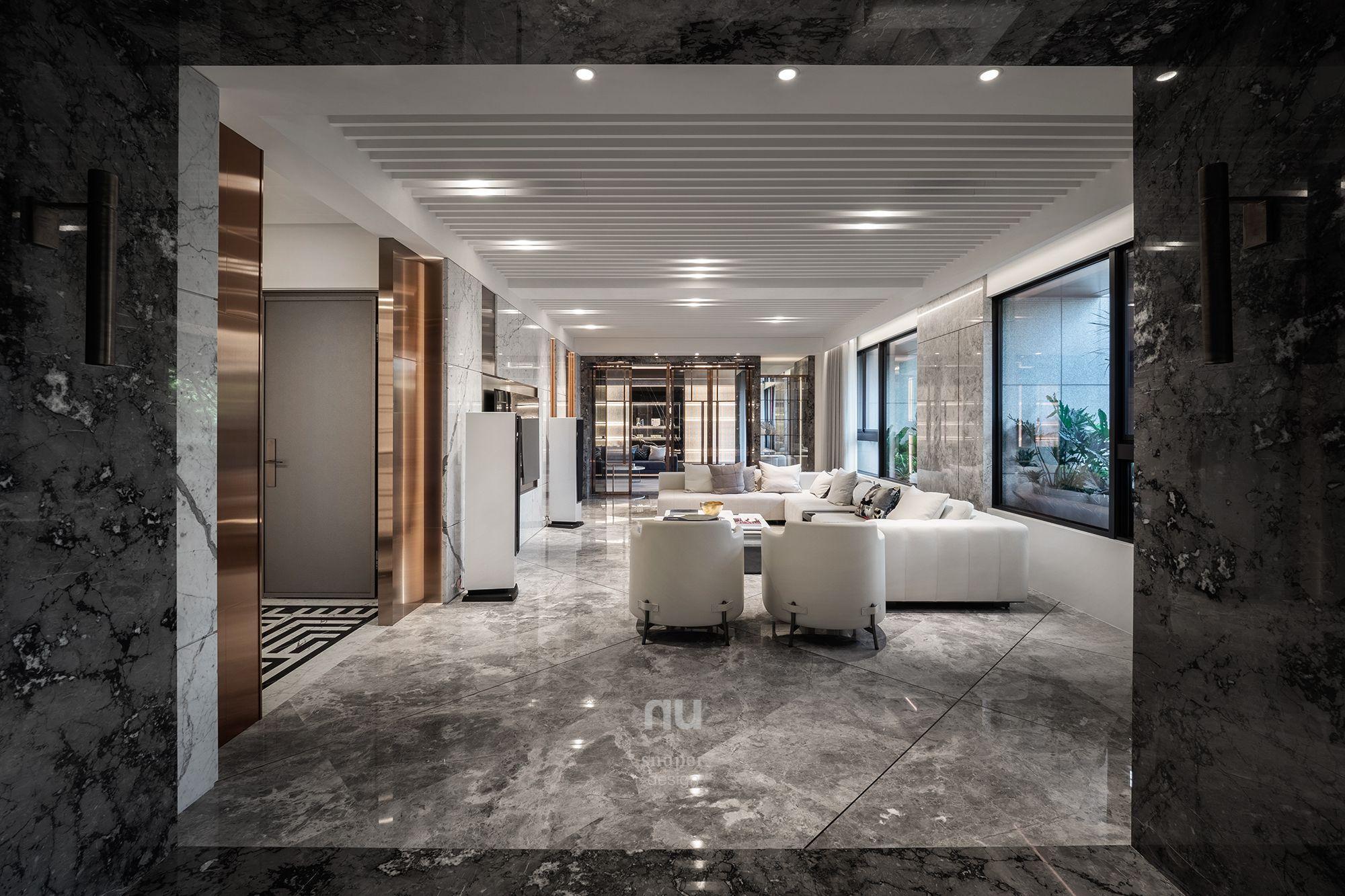 豪宅設計-客廳-桃園中悅
