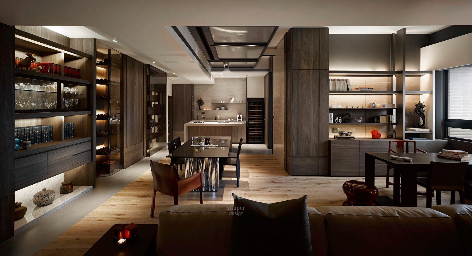 豪宅設計-當代上林-客廳