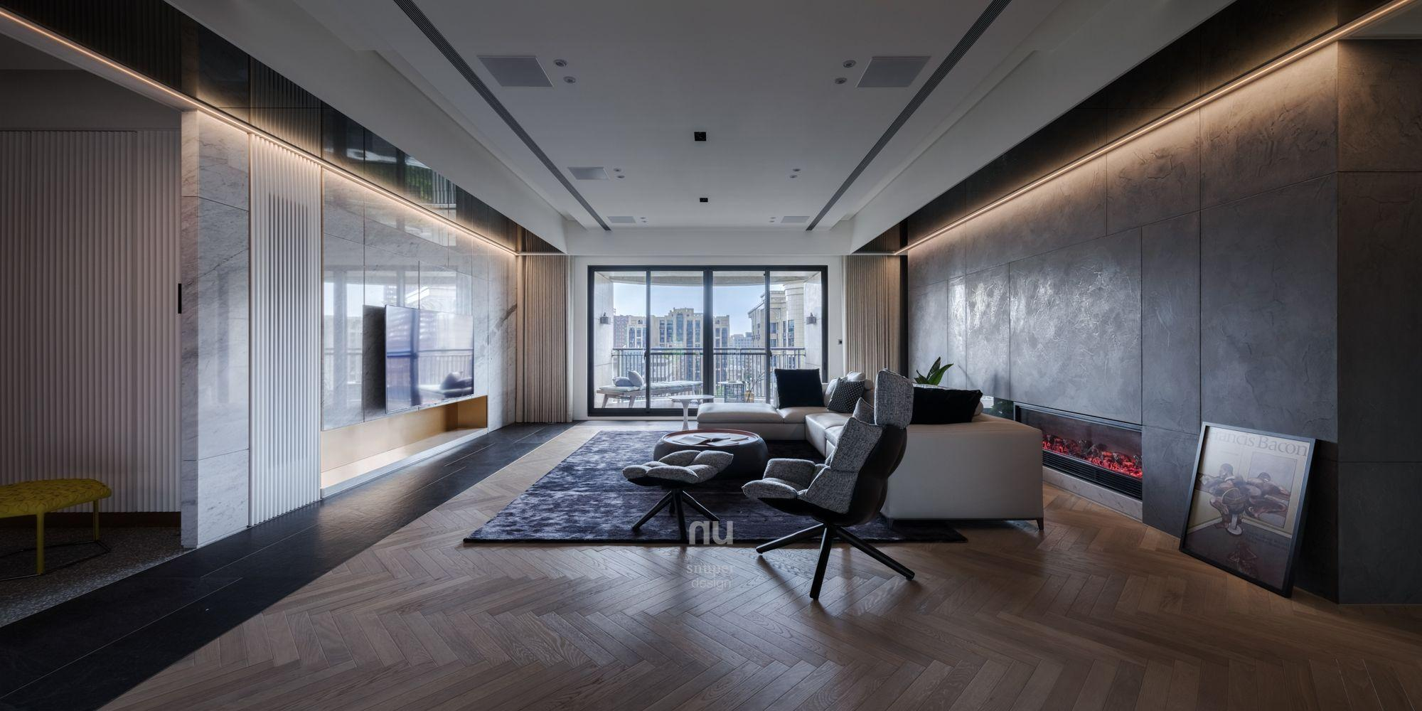 豪宅設計-當代風采-客廳