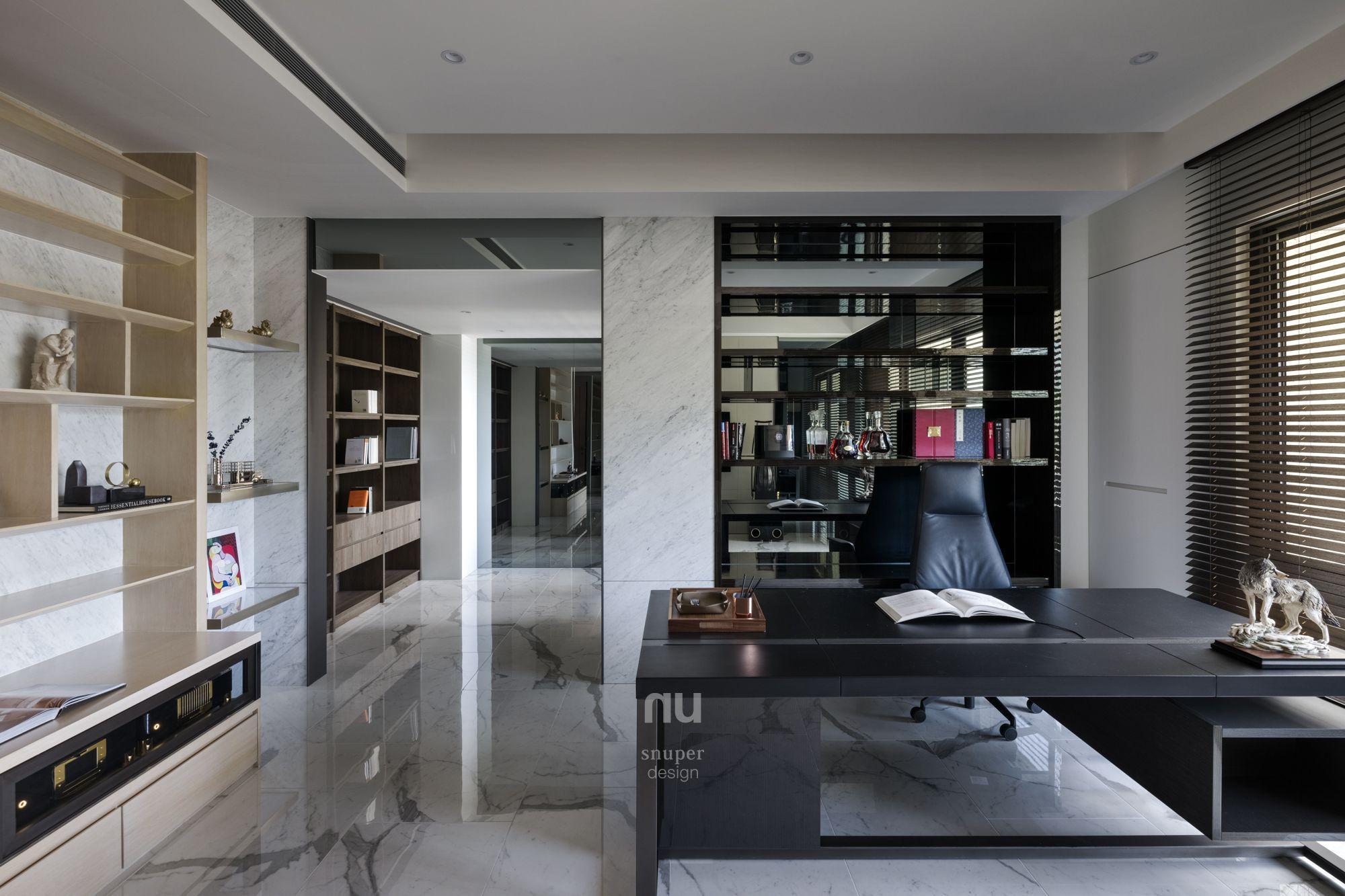 豪宅設計-當代風采-書房