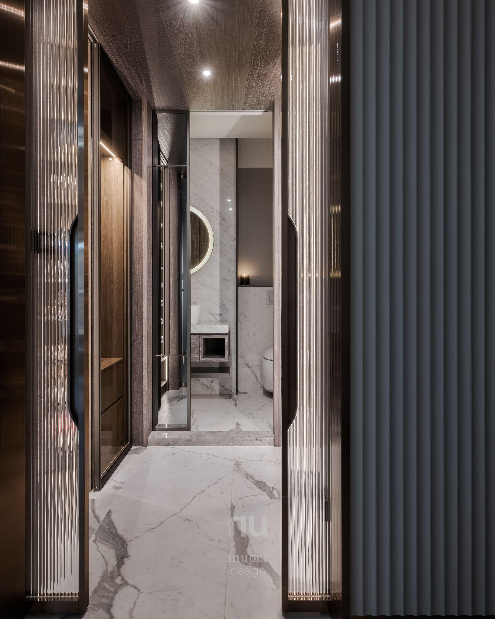 豪宅設計-當代風采-玄關客廁