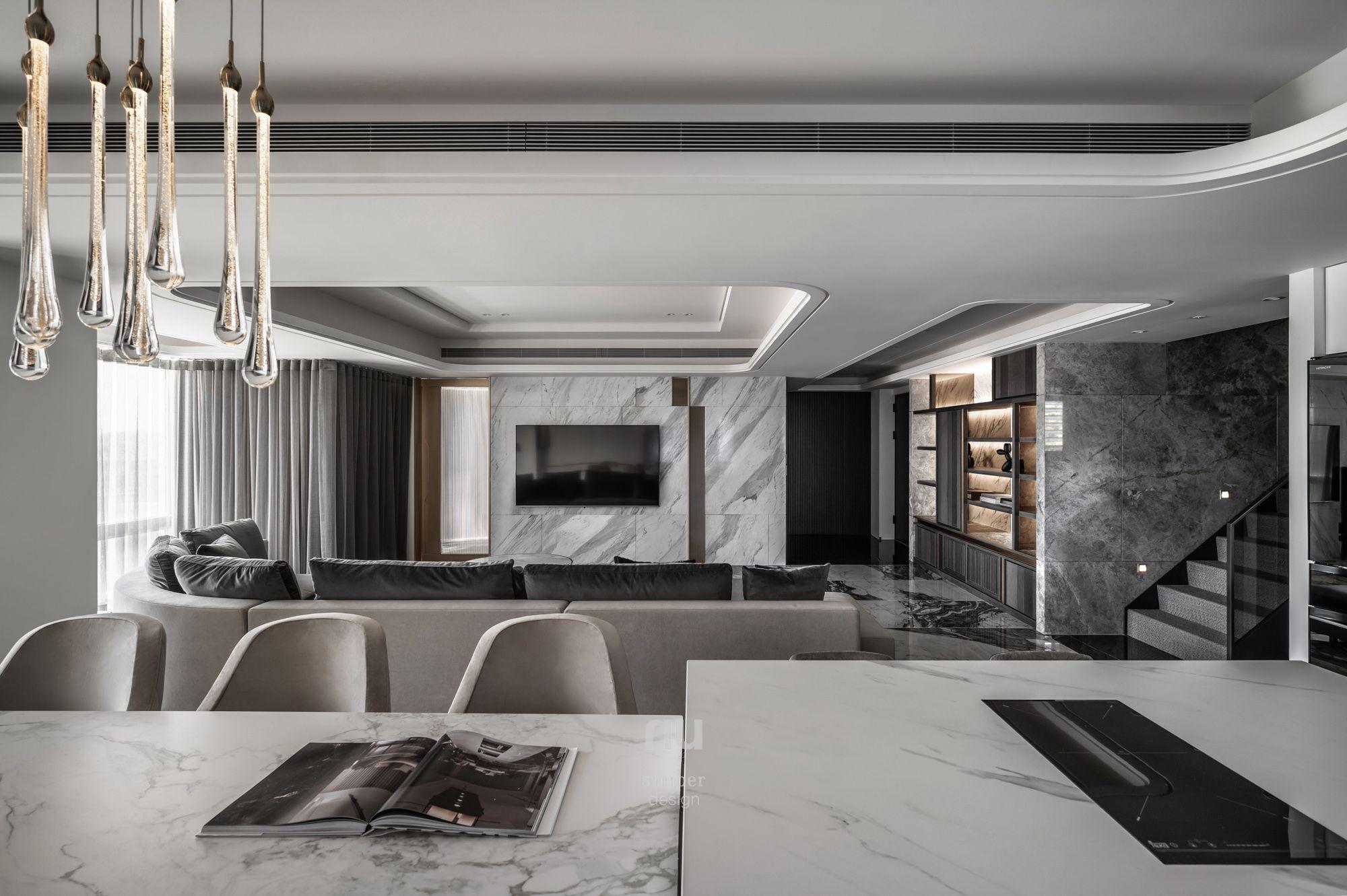 豪宅設計-都會優雅-客廳
