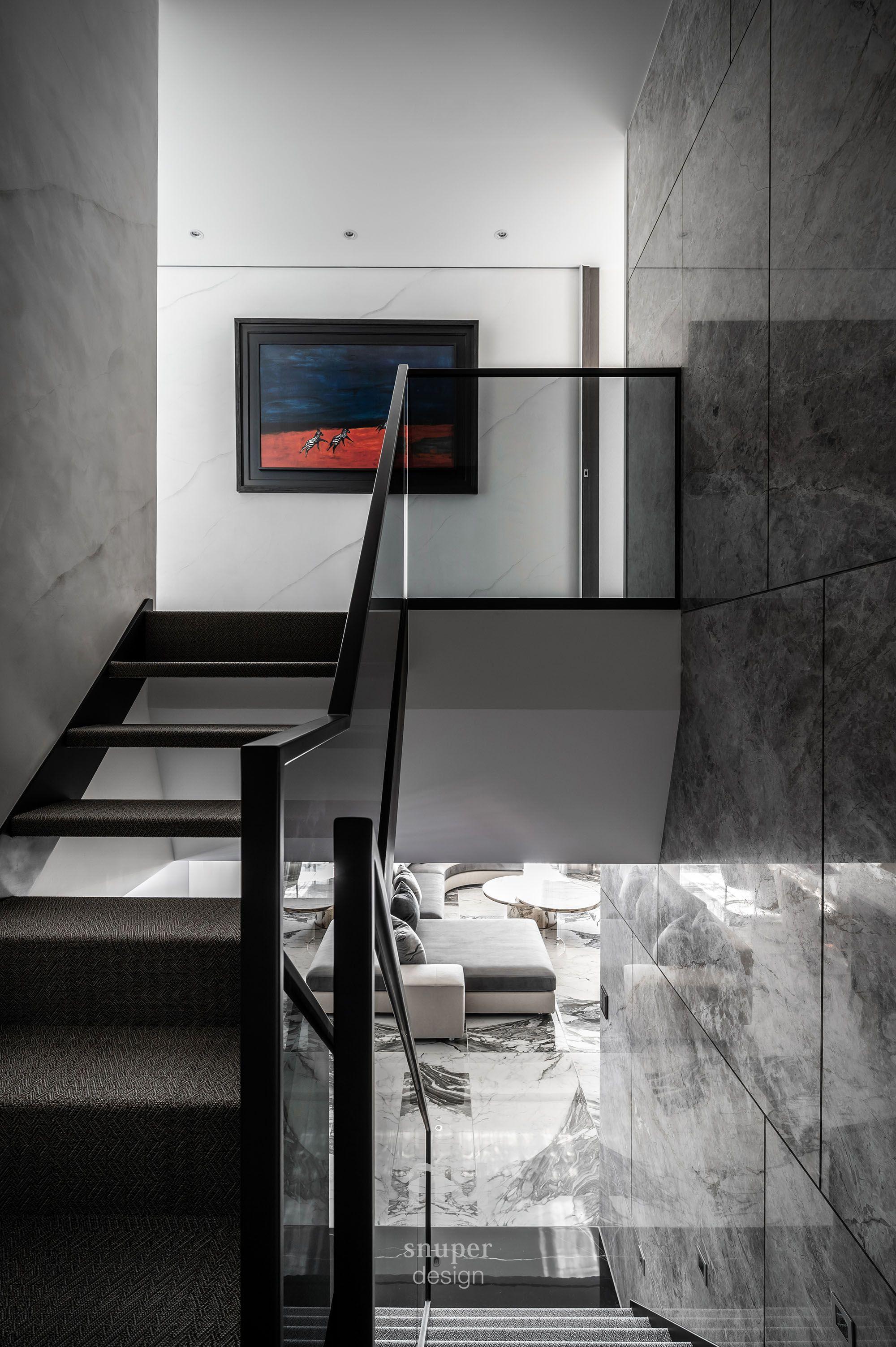 豪宅設計-都會優雅-樓梯
