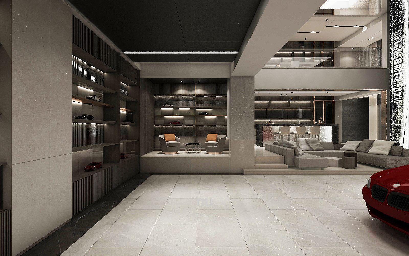 豪宅設計-南京安品-車庫