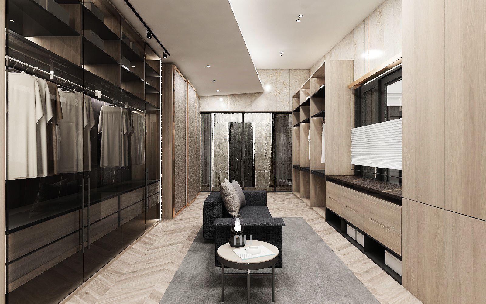 豪宅設計-南京安品-更衣室
