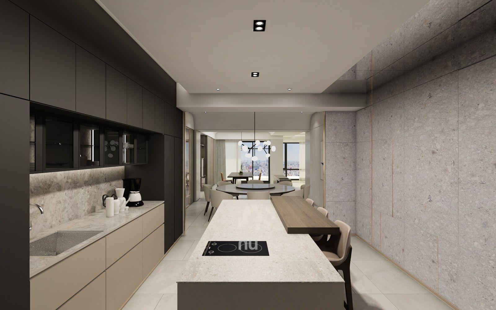 台中豪宅設計-廚房