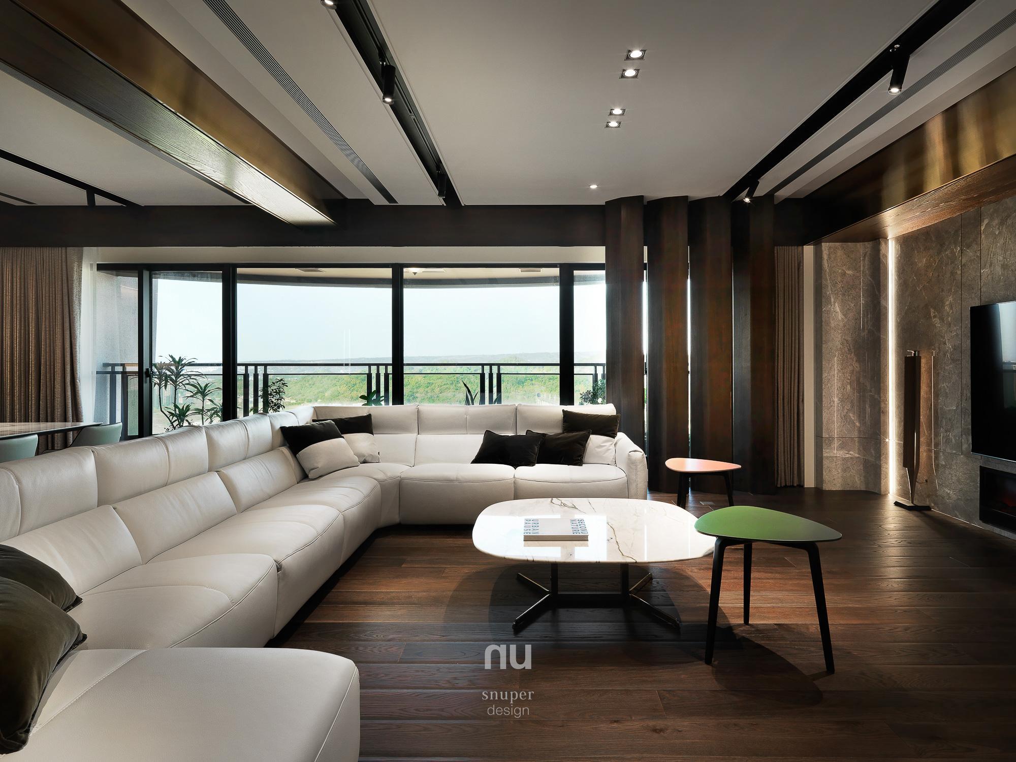 豪宅設計-中悅人文-客廳