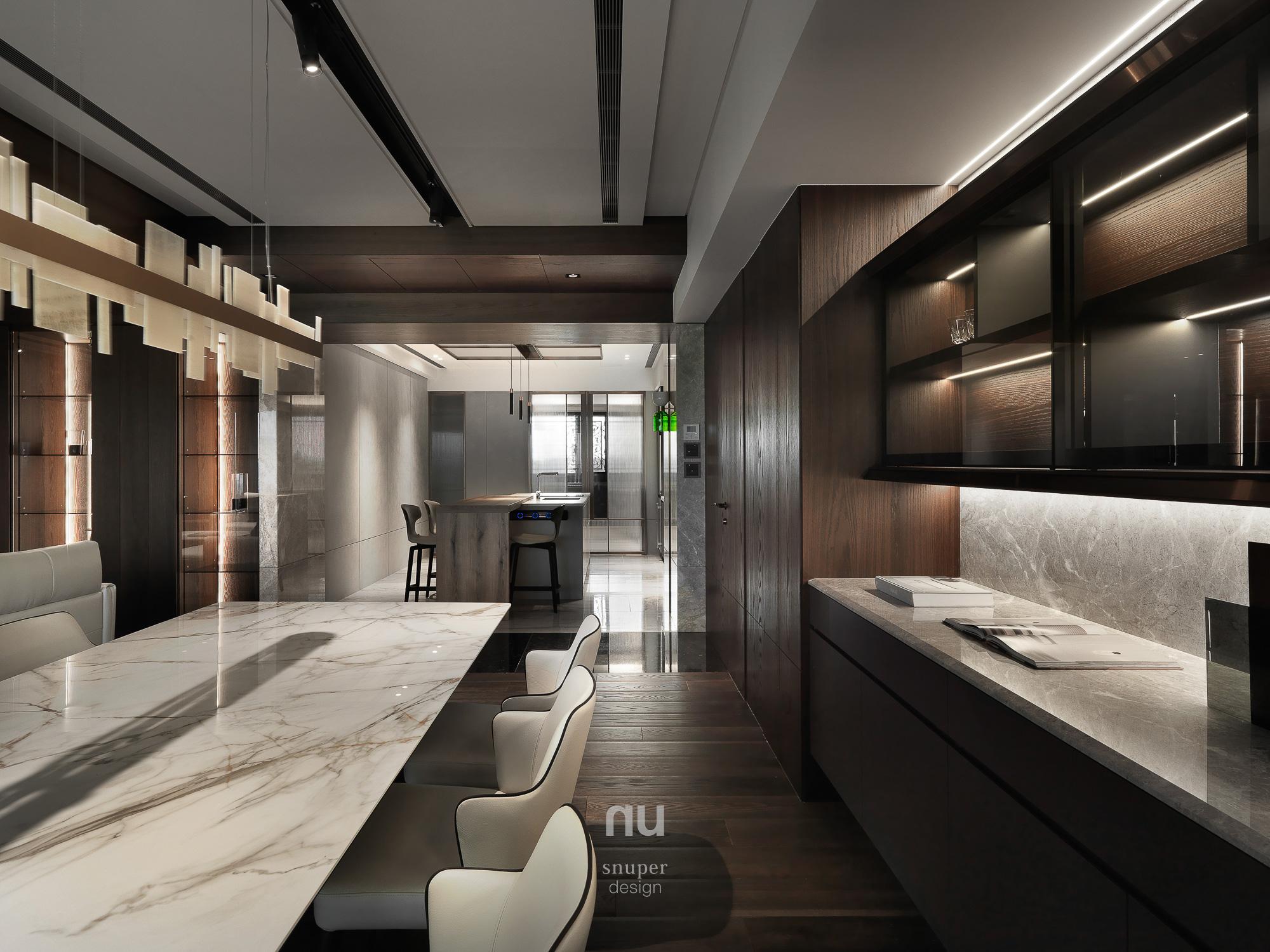 豪宅設計-中悅人文-餐廳