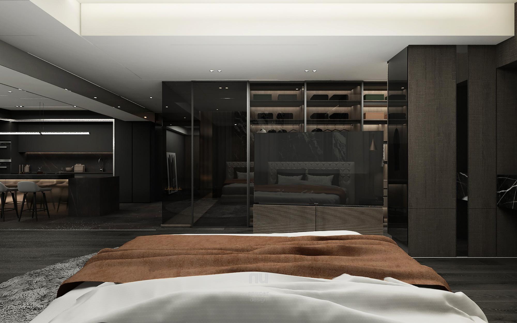 豪宅設計 - 主臥房 更衣間