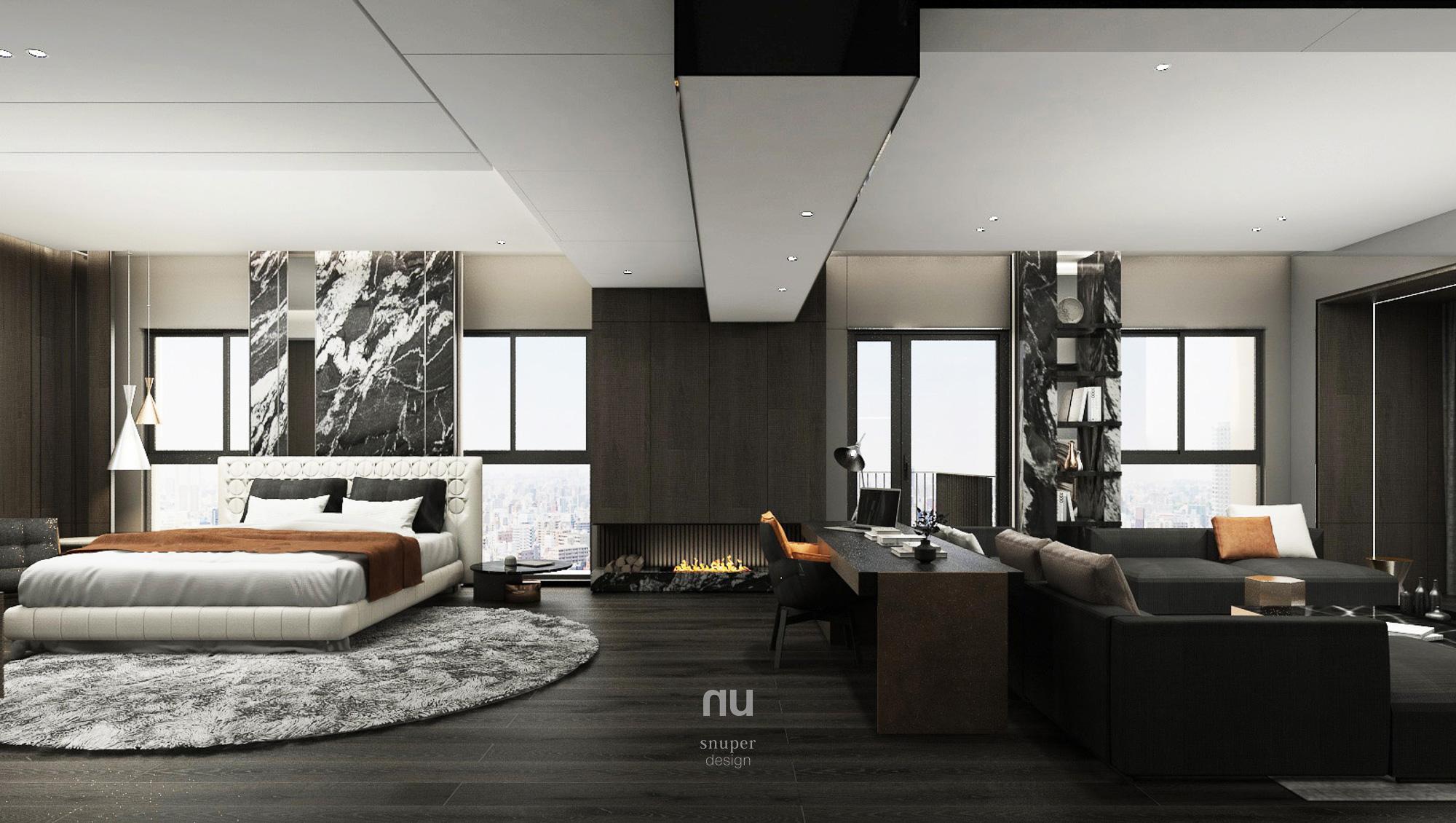 豪宅設計 - 客廳 主臥房