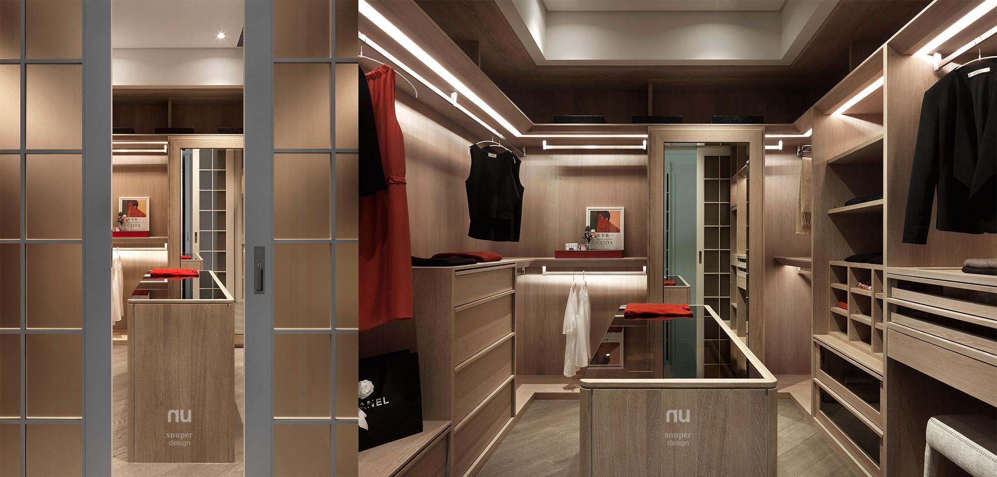 豪宅設計 - 古典印象- 主臥更衣間