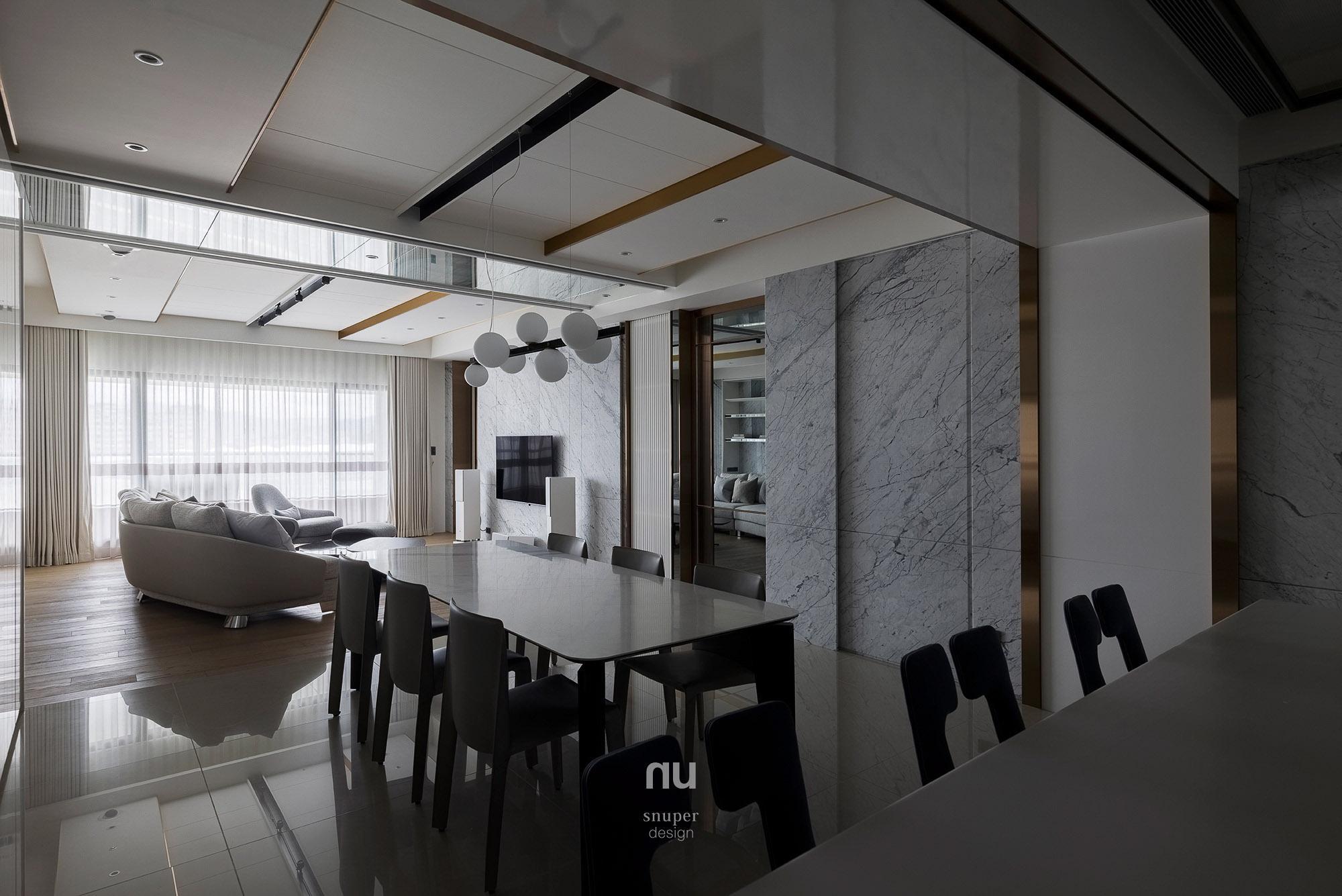 豪宅設計-城市居旅-客廳 餐廳