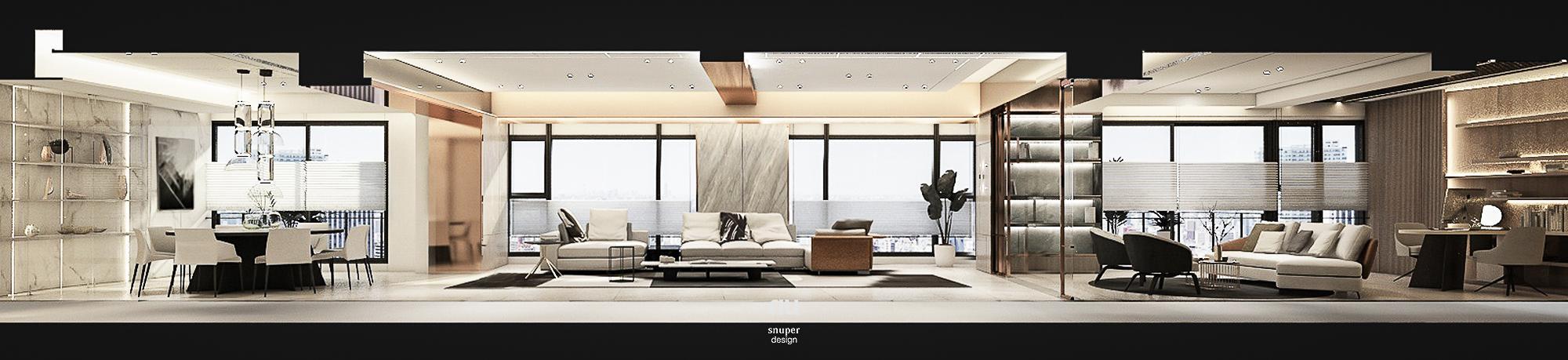 豪宅設計 - 寶輝City Park - 客廳 餐廳 宴會廳