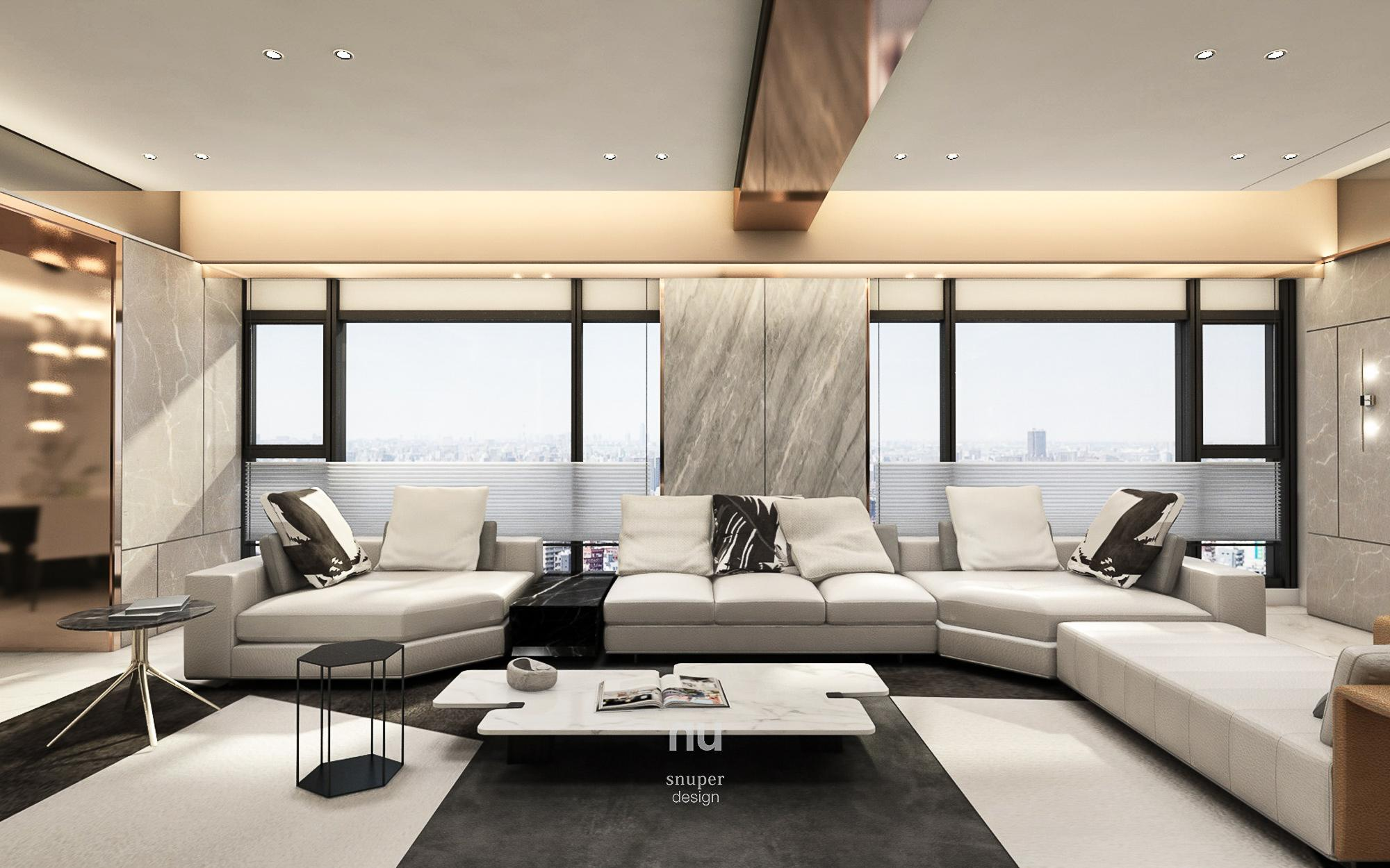 豪宅設計 - 寶輝City Park - 客廳