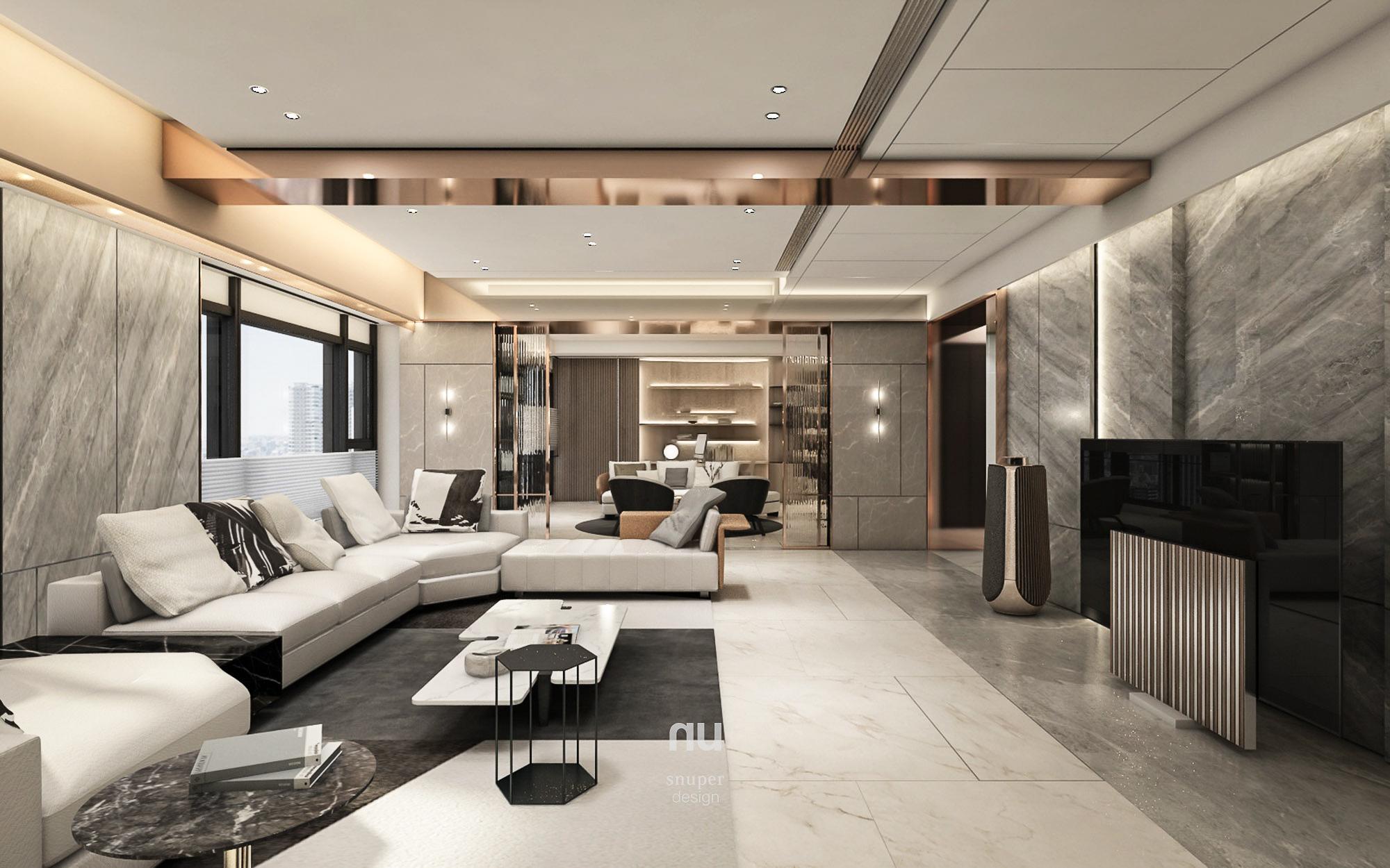 豪宅設計 - 寶輝City Park - 客廳 宴會廳
