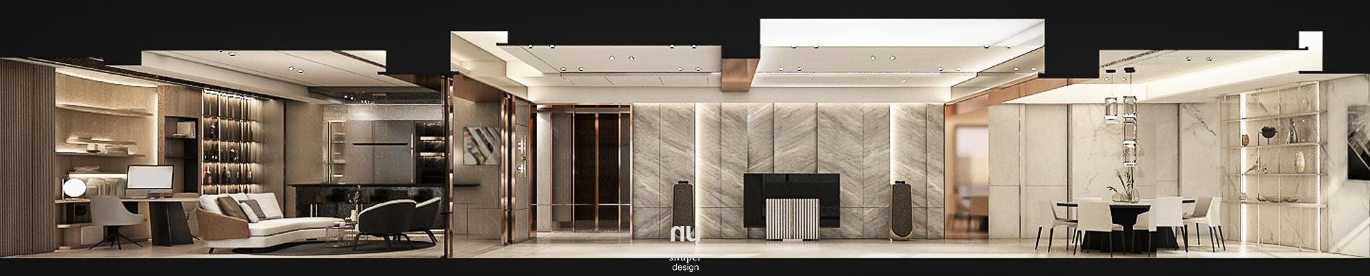豪宅設計 - 寶輝City Park - 宴會廳 客廳 餐廳