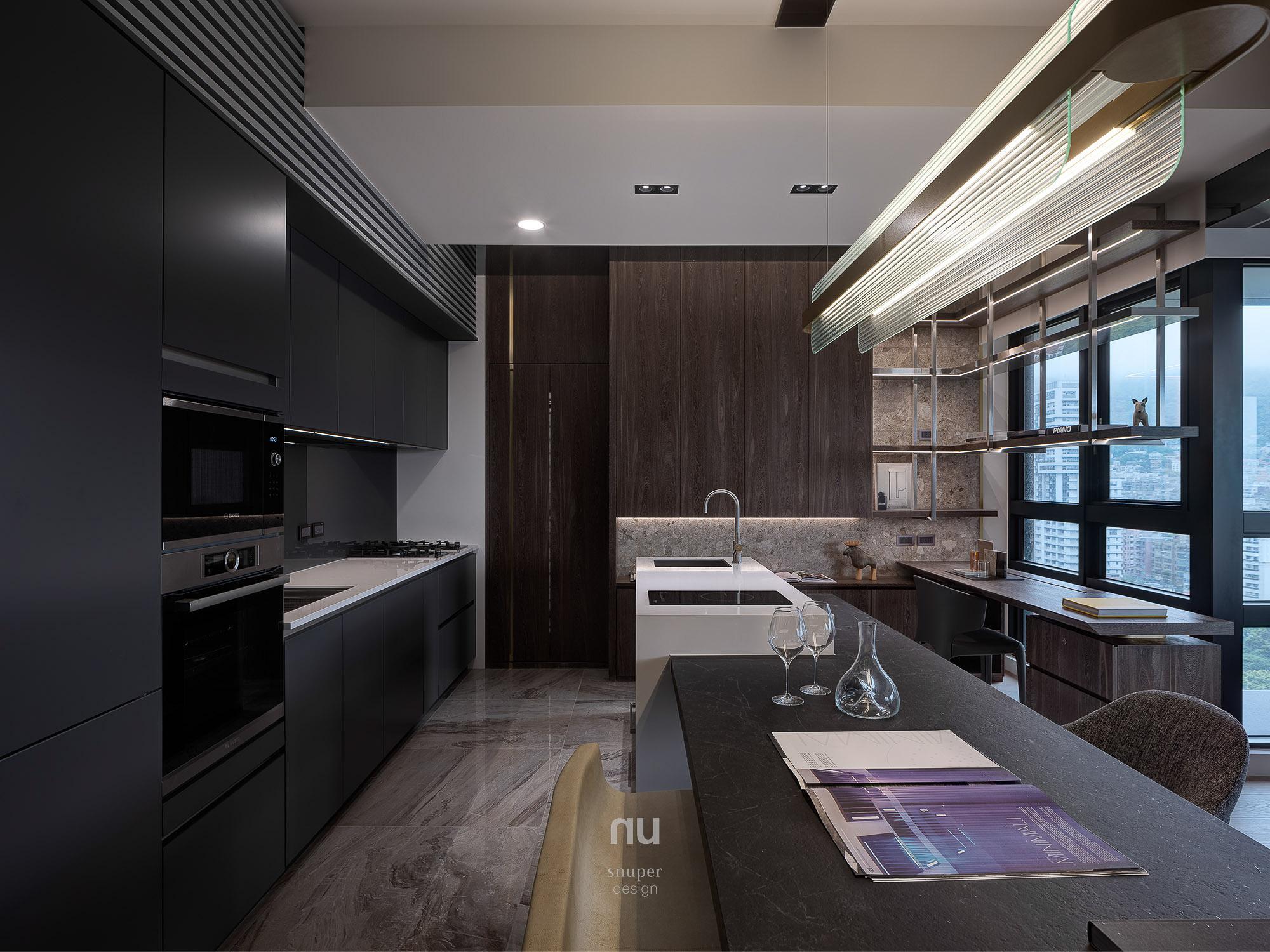 豪宅設計_ 廚房 餐廳