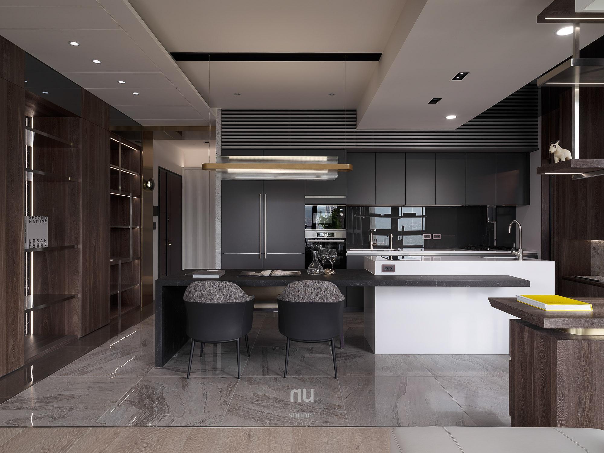 豪宅設計_ 餐廳 廚房 客廳